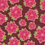 fleurs sur fond transparent marron foncé — Vecteur