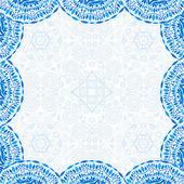 Синий украшение кадра — Cтоковый вектор