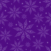 Eenvoudige bloem silhouetten op paarse naadloze achtergrond — Stockvector
