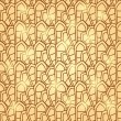Abstract Brown Geometric Seamless Pattern — Vettoriali Stock