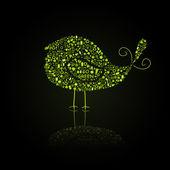 Bird Silhouette Go Green Eco — Wektor stockowy