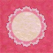 Retro Old Pink Invitation Card — Stock Vector