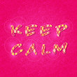 Inspirational Keep Calm Shiny Lettering Sign — Stok Vektör
