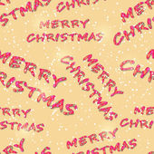 Seamless Pattern with Merry Christmas Letters — Stock Vector