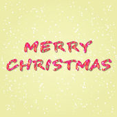 Colorful Merry Christmas Letters Sign — Vecteur