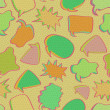 Retro Bubble Chat Seamless Pattern. — Foto Stock
