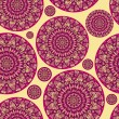 Pink Seamless Pattern with Round Mandala — Stock Vector