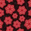 Red Rose Flowers on Seamless Pattern — Stockvectorbeeld