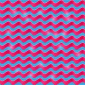 Blue Pink Shiny Wavy Band Illustration — Stock Vector