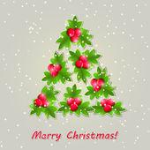 緑の葉から構成される光沢のクリスマス ツリー. — ストックベクタ