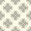 Abstract Snowflake Damask Seamless Pattern — Stock Vector