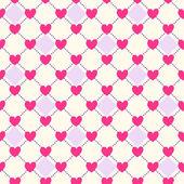 Nahtlose geometrische Herz-Muster — Stockvektor