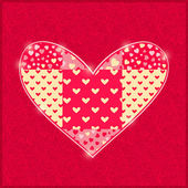 Hand Made Red Heart. — Stock Vector
