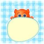 Baby boy announcement card. Vector illustration. — Stock Vector