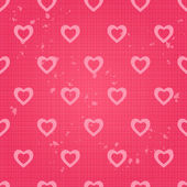 Retro Vintage Seamless Pattern with Heart — Wektor stockowy