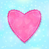 Pink Ruffled Heart — Vector de stock