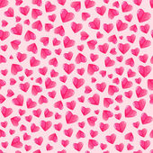 Seamless pattern with shiny hearts — Stock Vector