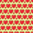 Seamless Pattern With Row of Heart — Stock Vector #37109885