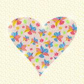 Kwiatowy serce valentine dzień zaproszeniu — Wektor stockowy