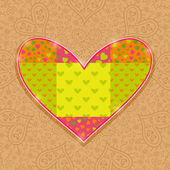 Hand Made Heart Stitch — Stock Vector