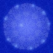 Mandala Decoration with Hearts — Stock Vector