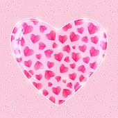 Valentines Day Shiny Pink Background — Vector de stock