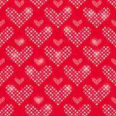 Polka Dot Heart Seamless Pattern — Stock Vector