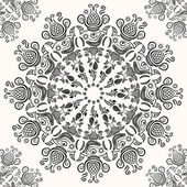 Vintage Black White Lacy Decoration Pattern — Stockvektor