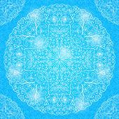 Blue Shiny Mandala Decorated Card — Stockvektor