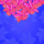 Pnk Flowers on Purple Background — 图库照片