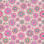 Seamless Beige Pattern with Colorful Elements — Stock Photo