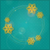 Пригласительная открытка с бумаги цветок силуэты. — Стоковое фото