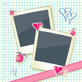 Card with Two Cute Photo Frames — Stockfoto