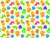 Toy animal seamless pattern — Stock Photo
