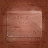 Wooden Texture with Glass Framework — Stock Photo