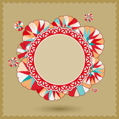 Abstract Banner with Colorful Round Ornament — Stock Photo