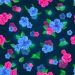 Dark Blue Floral Seamless Pattern — Stock Vector #48038655