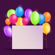 Birthday Background with Colorful Balloons — Stock Vector #48039643