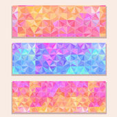 Banner Set with Colorful Modern Triangle Pattern — Stock Vector