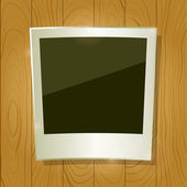 Instant Photo Frame on Wooden Board — Vector de stock