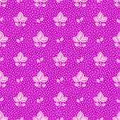 Pink Flowers on Purple Seamless Background — Stock Vector