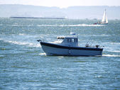 Sport Fishing Boat on San Francisco Bay — Stock Photo