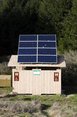 National Park Camp Site Bath Room Solar Panels — Stock Photo