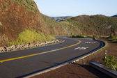Curve in Road 15 MPH Hills Red Dirt — Stock Photo