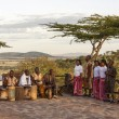 African tribe playing musical instruments and singing — Foto Stock