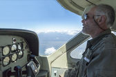 Pilot in the plane — Stock Photo