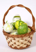 The Easter basket — Stock Photo