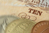 UK currency in a spin. — Stock Photo