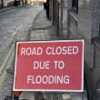 Flooding sign — Stock Photo