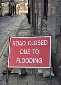 Flooding sign — Stockfoto